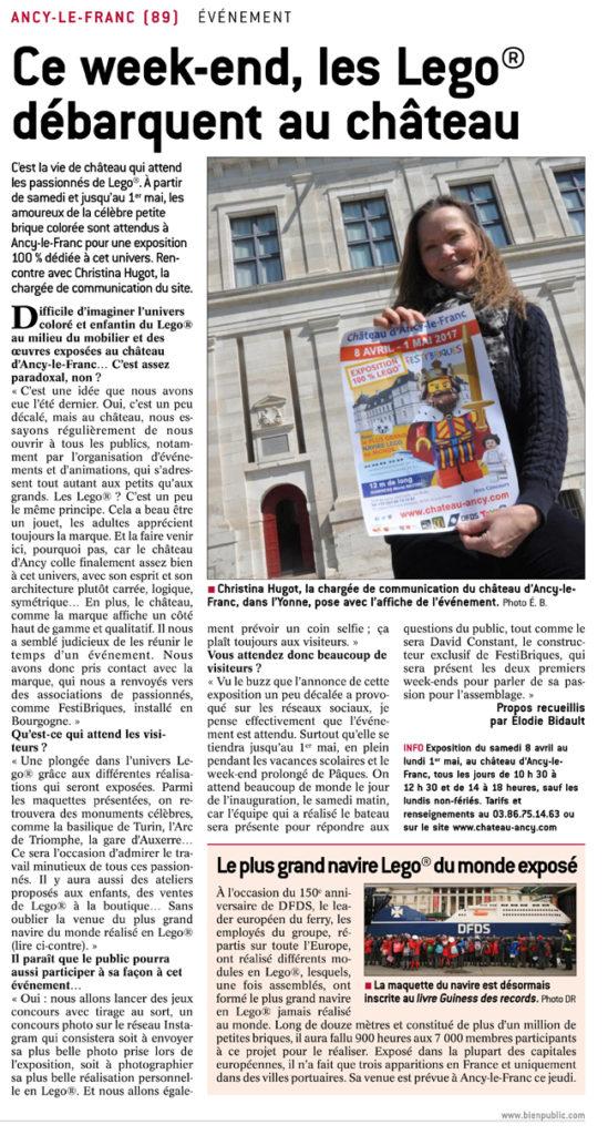 Exposition lego au château d'Ancy le Franc