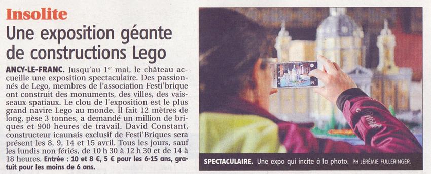 Exposition 100 % Lego Chateau d'Ancy le Franc