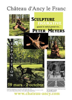 Exposition de Sculptures de Peter Meyers Parc Château d'Ancy le Franc