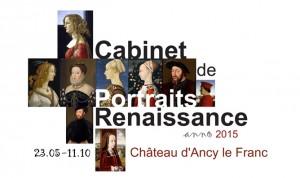 expo Cabinet de portrait Renaissance affiche grande 2015