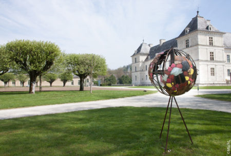 Exposition de sculptures Michel Laurent au Château d'Ancy le Franc château en Bourgogne