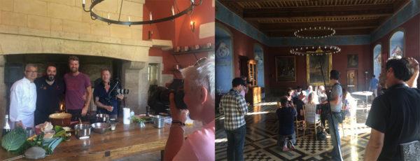 tournage de télé américaine au château d'Ancy le Franc moveablefeast
