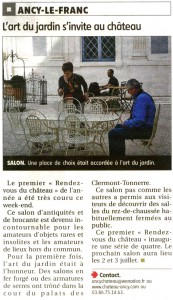 Art du jardin Ancy le Franc Mai 2011