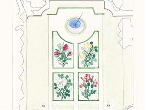 Création de jardin parterre Est Château d'Ancy le Franc