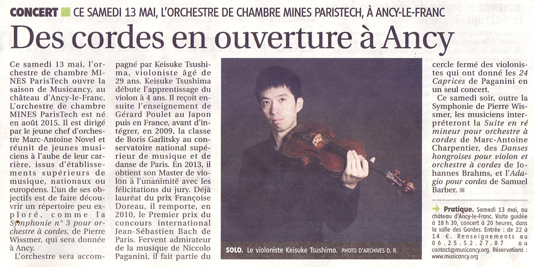 Concert Musicancy ouverture de la saison musicale chateau d'Ancy le Franc musique