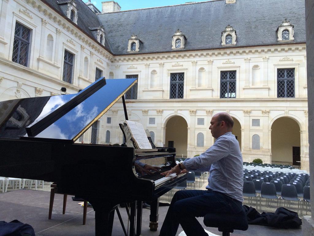 Repetition MUSICANCY été 2016 Jerome Ducros concert château d'Ancy le Franc