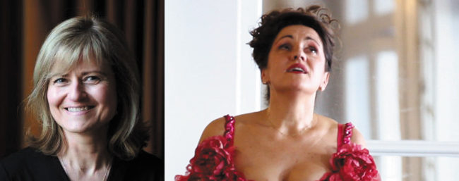 Edwige Bourdy, soprano Anne-Lise Gastaldi piano musicancy chateau d'Ancy le Franc 4 aout