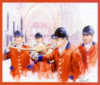 Concert trompes de chasse Château d'Ancy le Franc