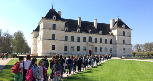 Visites pour les scolaires au château d'Ancy le Franc