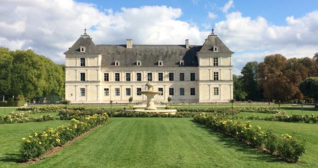 Le nouveau Parterre Ouest du château d'Ancy le Franc