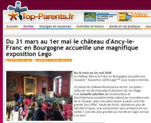 exposition 100% LEGO au château d'Ancy le Franc en Bourgogne