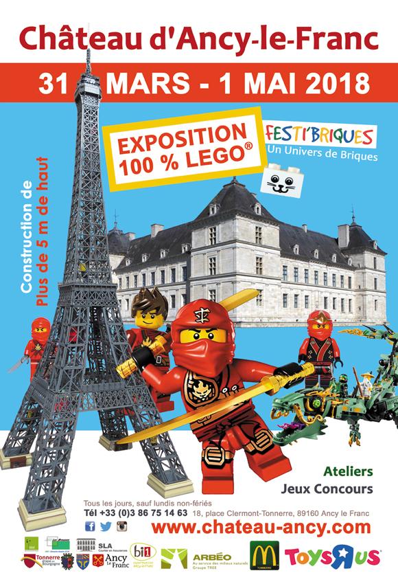 Exposition 100% LEGO château d'Ancy le Franc Bourgogne Pâques
