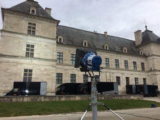 tournage de film au château d'Ancy le Franc Molière ou l'affaire Tartuffe Bourgogne