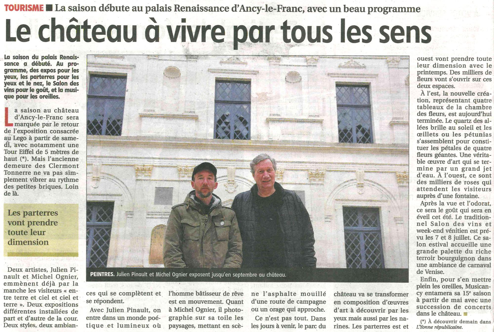 exposition ancy le franc chateau bourgogne
