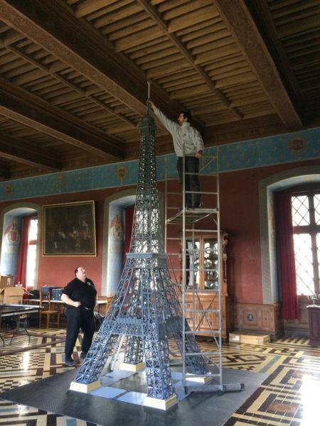 Tour eiffel lego au chateau d'Ancy le Franc