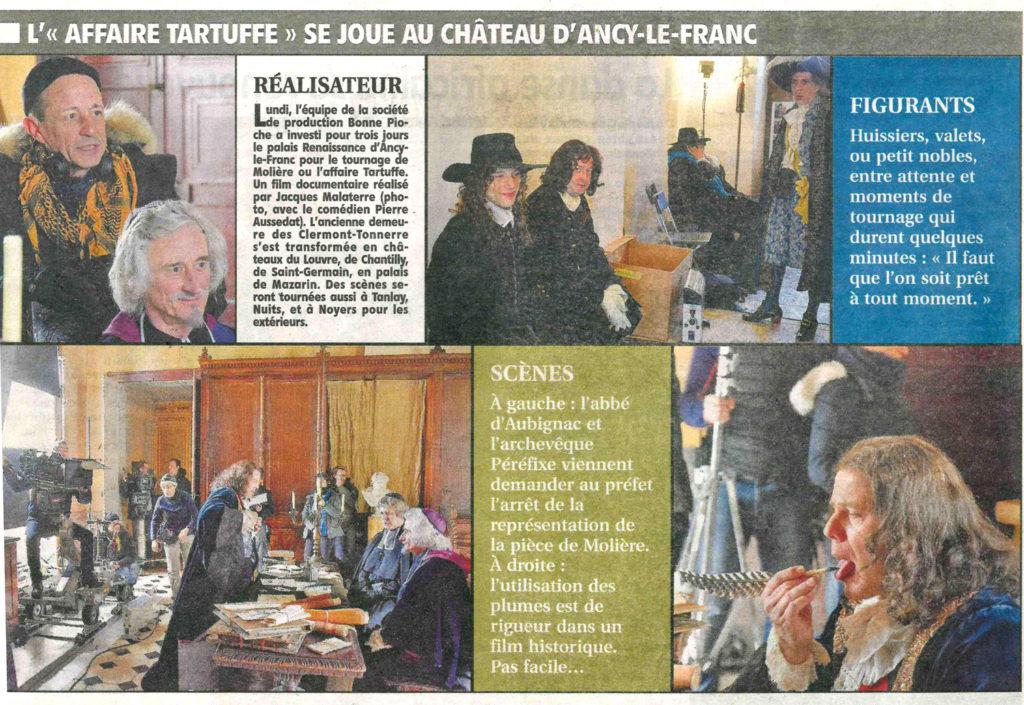 tournage chateau d'ancy le franc
