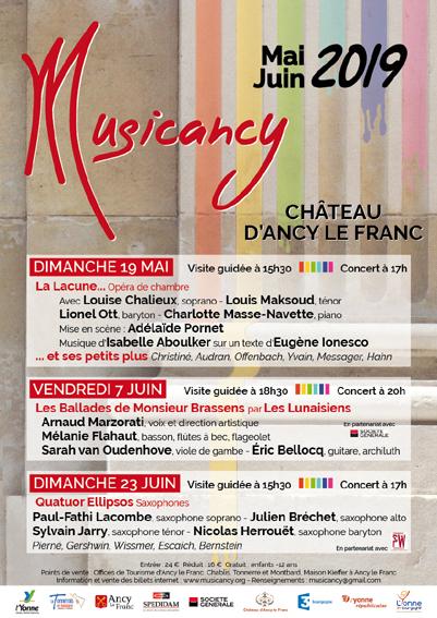 concerts musicancy chateau d'ancy le franc festival de musique en bourgogne