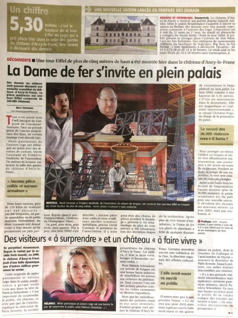 expo lego chateau d'ancy le franc