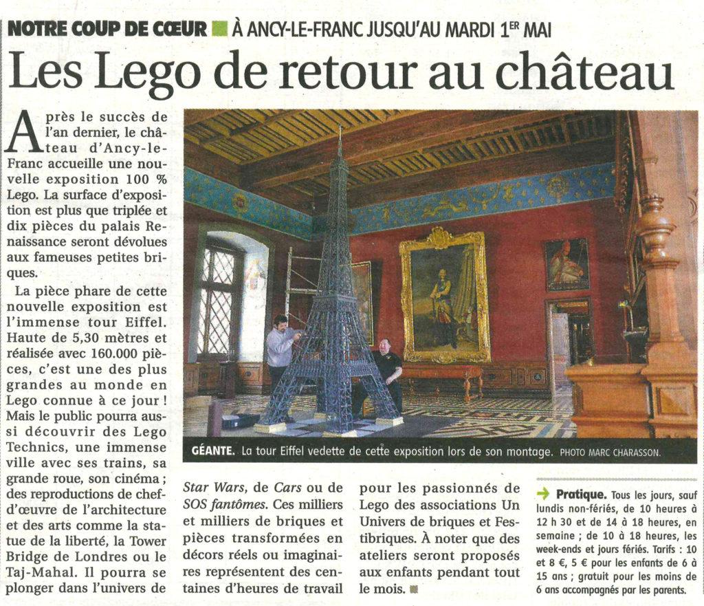 exposition lego chateau ancy le franc bourgogne