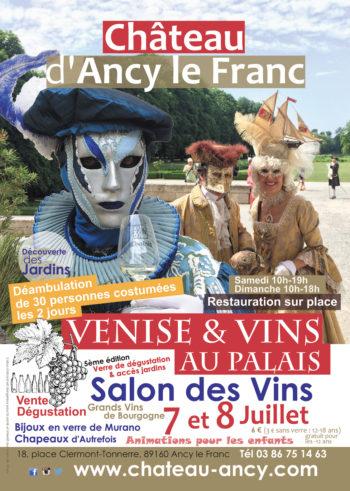 Venise & Vins au Palais Salon des Vins sous le signe du Carnaval de Venise Chateau d'ancy le franc bourgogne