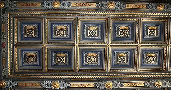 plafond à caisson chateau d'Ancy le Franc