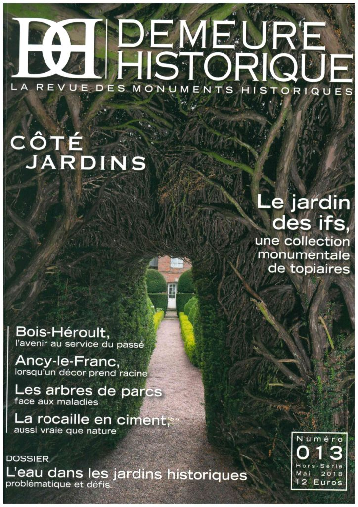 demeure historique article jardins du chateau d'Ancy le Franc mai 2018