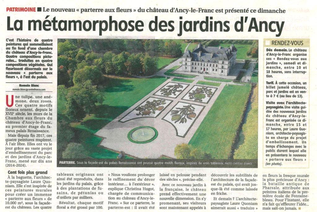 Les nouveaux jardins chateau d'ancy le franc chateau