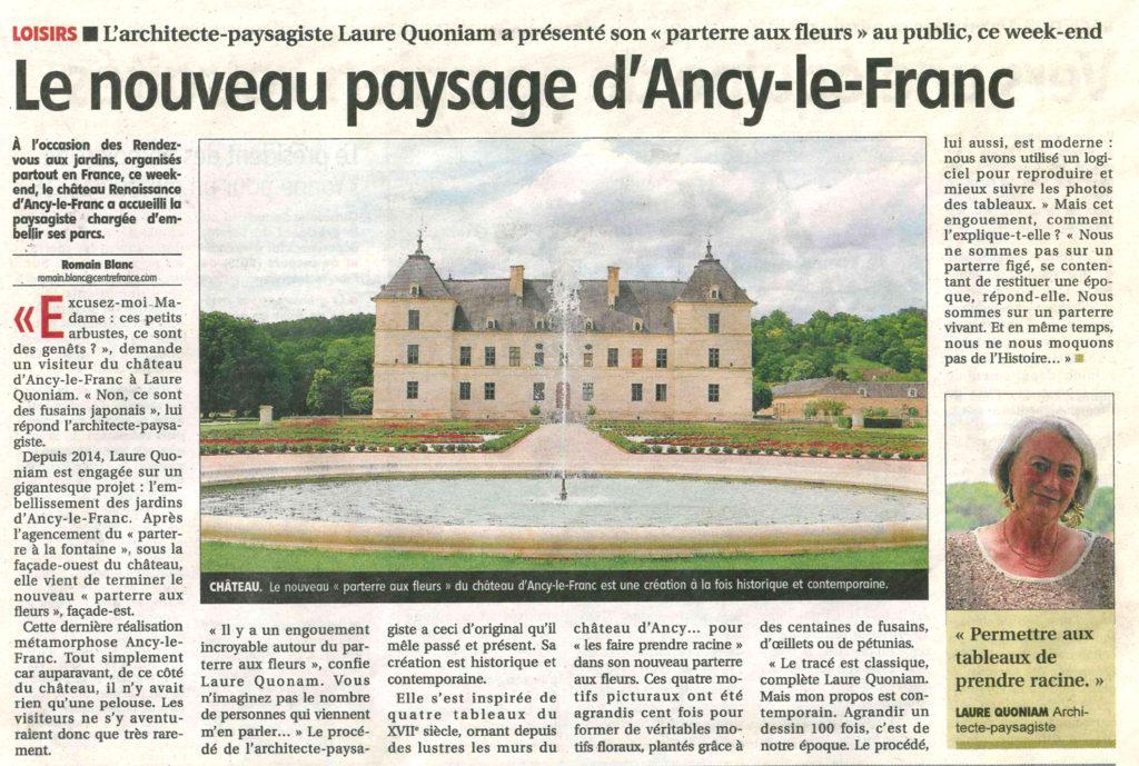 Parterre Est chateau d'aNCY LE fRANC JARDIN