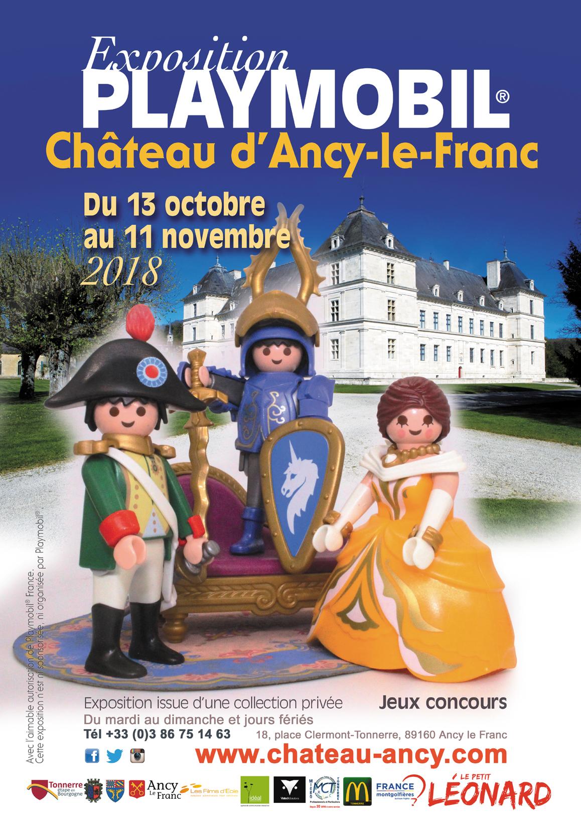 exposition playmobil chateau d'ancy le franc bourgogne yonne sortie à toussaint