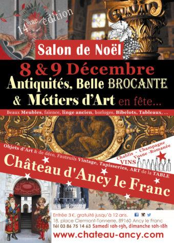 salon de noel antiquités et belle brocante chateau d'ancy le franc
