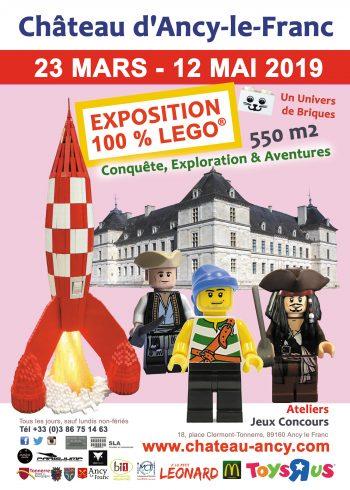 Exposition lego chateau d'Ancy le Franc