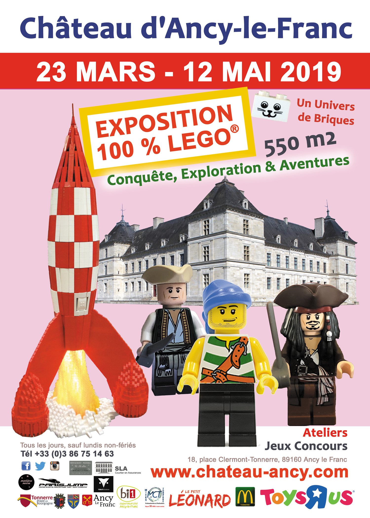 A 100 Lego Exhibition 2019 Château Dancy Le Franc