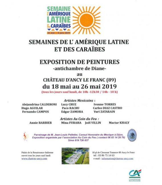 artistes MEXICAINS semaine de l'amérique latine au château d'ancy le franc exposition art