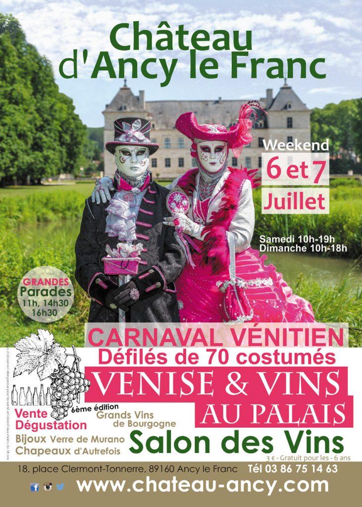 carnaval vénitien chateau d'ancy le franc