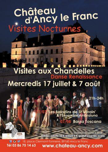 visites nocturnes chateau en bourgogne ancy le franc