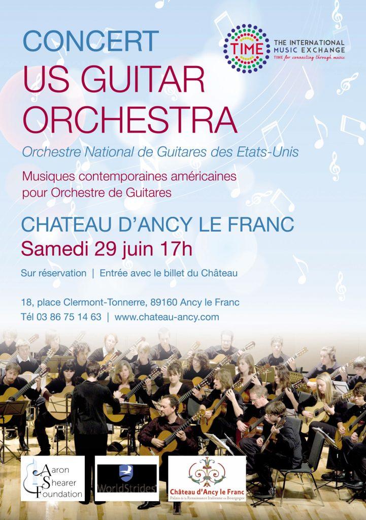 concert de guitares chateau d'ancy le franc
