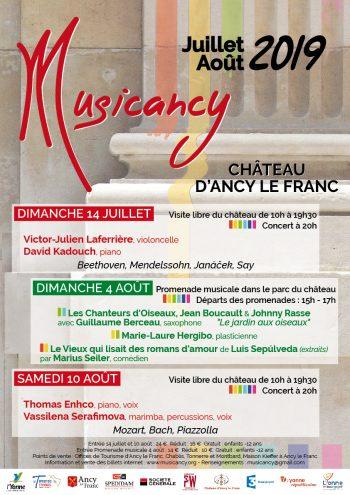 musicancy château d'Ancy le Franc concert en bourgogne