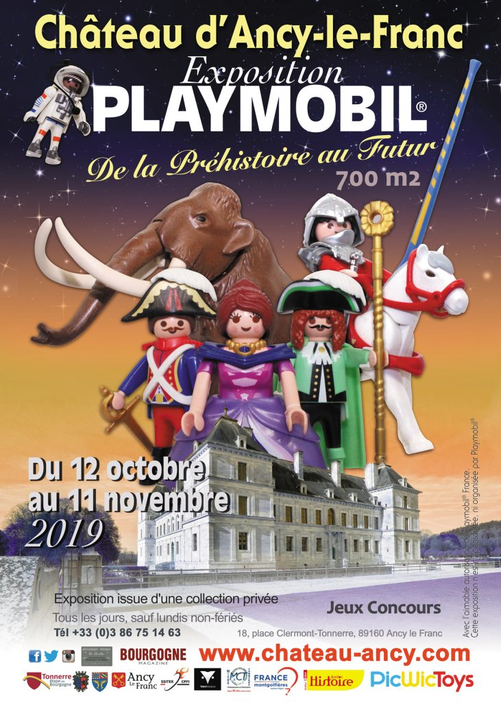 exposition playmobil chateau d'ancy le franc bourgogne famille expo vacances toussaint