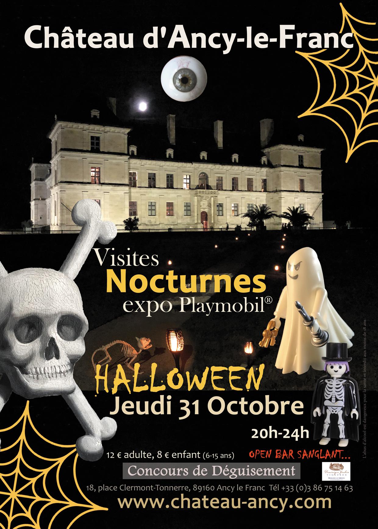 halloween au château d'ancy le franc en bourgoogne kids enfant sortie pour la toussaint