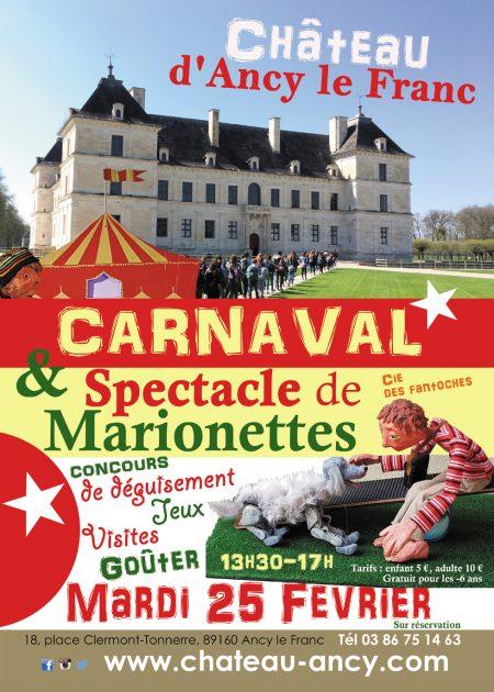 carnaval au chateau spectacle de marionettes