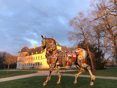 Inside-outouside exposition art bourgogne sculpture peinture château d'ancy le franc sortir visite
