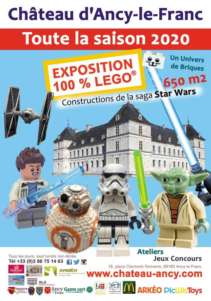 exposition 100% lego star wars chateau d'ancy le franc bourgogne sortir printemps balade visite en famille
