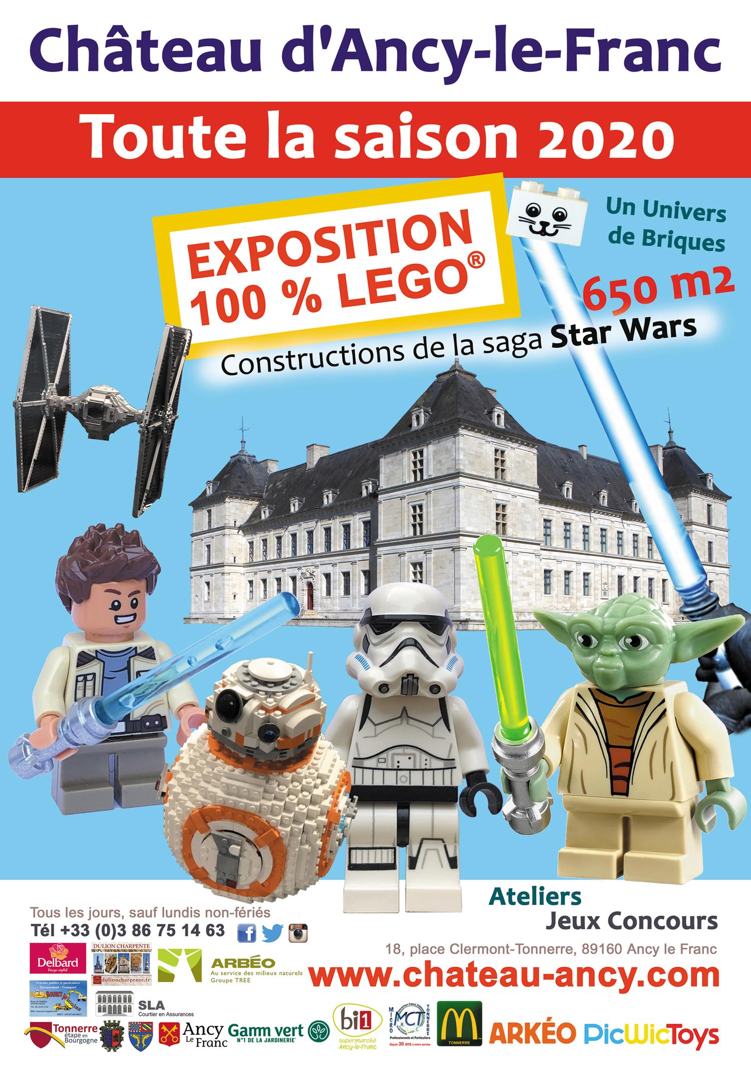 exposition 100%lego star wars chateau en bourgogne chateau ancy lefranc sortie famille enfant kids
