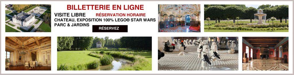 Réservation en ligne château d'Ancy le Franc billetterie visite libre chateau parc jardins EXPOSITION LEGO STAR WARS