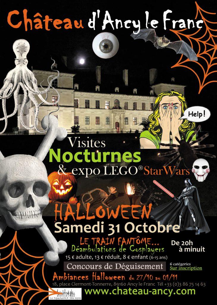 Halloween au chateau ancy le franc visite en famille sortie vacances de la toussaint en bourgogne