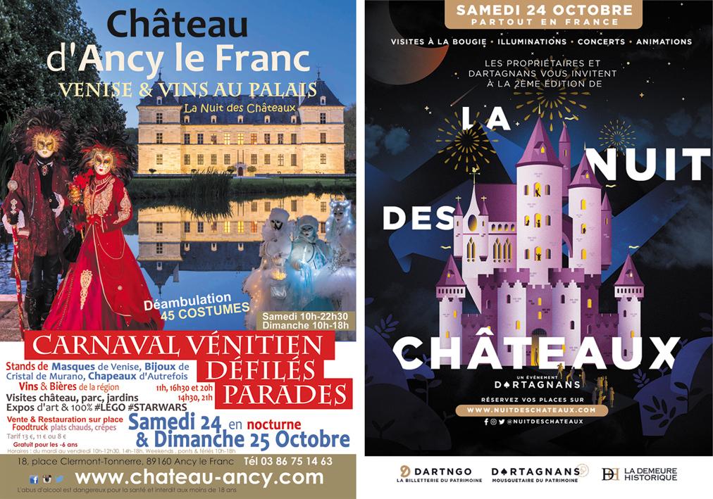 carnaval de venise salon des vins weekend vénitien château d'ancy le franc bourgogne la nuit des chateaux en france
