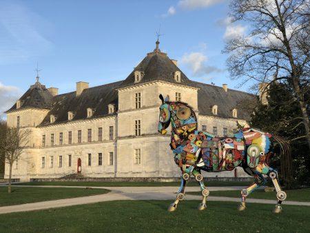 visiter chateau parc en famille sortie nature promenade vacances d'hiver en bourgogne