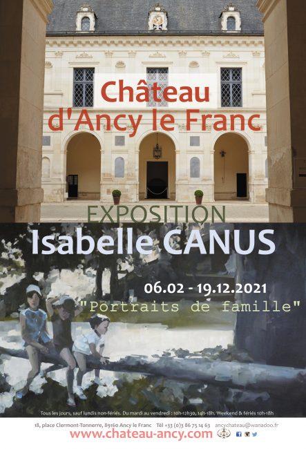 exposition d'art peinures au château d'ancy le franc en bourgogne Isabelle canus